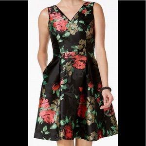 Ivanka Trump Cocktail Floral A Aline Dress Size 10